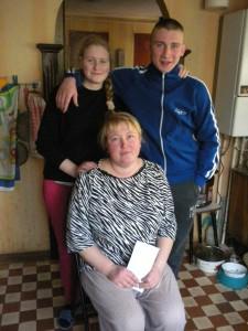 Оксана Говорющенко с детьми